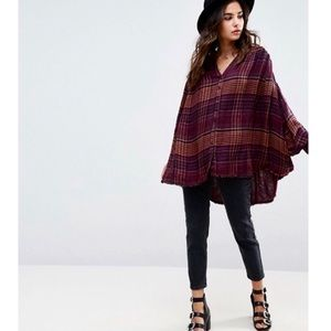 Free People Come on Over Plaid Tunic